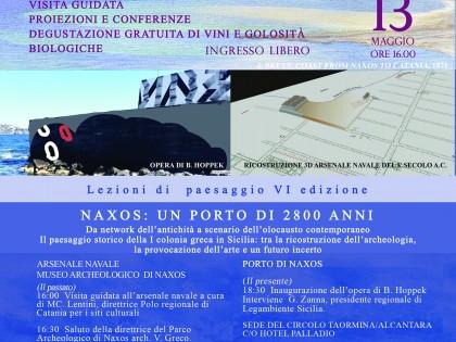 Salvalarte Naxos 2017 Lezioni di Paesaggio VI edizione Naxos: un porto di 2800 anni.