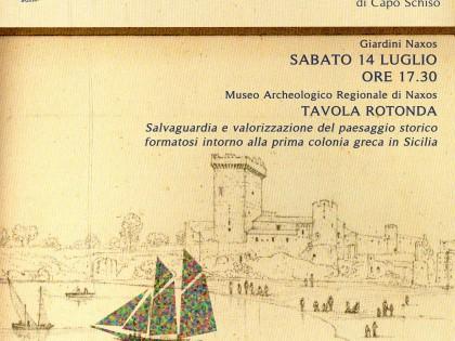 """Incontro/dibattito al Museo Archeologico di Naxos Taormina """"Salvaguardia e valorizzazione del paesaggio storico formatosi intorno alla prima colonia greca in Sicilia"""""""